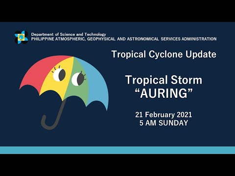 "Press Briefing: Tropical Storm ""#AURINGPH"" Sunday, 5AM February 21, 2021"