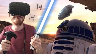 Video STAR WARS EN RÉALITÉ VIRTUELLE ! MP3, 3GP, MP4, WEBM, AVI, FLV November 2017