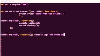 Node.js - Basic TCP Client