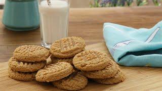 Galletitas de manteca de maní sin TACC con solo 3 ingredientes (Peanut butter cookies)