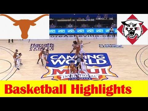 Davidson vs Texas Basketball Game Highlights 11 30 2020