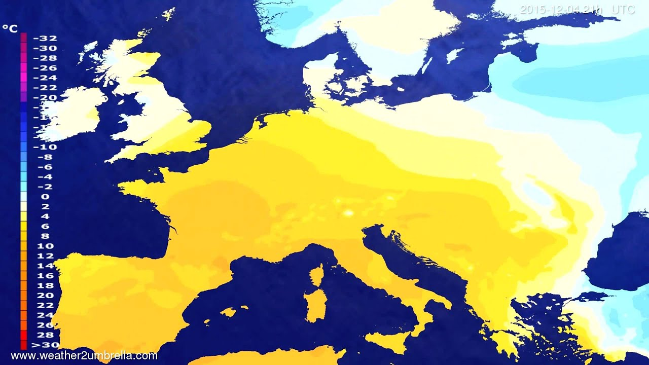 Temperature forecast Europe 2015-12-01
