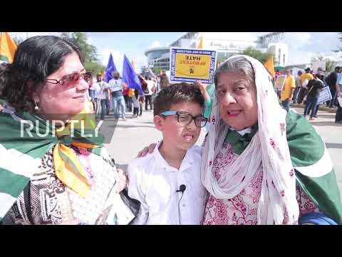 USA: Dozens protest 'genocide in Kashmir' as Modi meets Trump in Houston