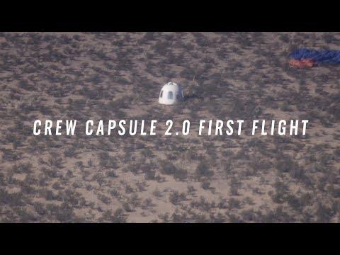 Crew Capsule 2.0 First Flight © Blue Origin
