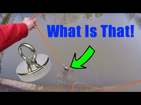Magnet Fishing Off A Dam