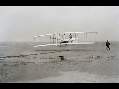 The Wright Brothers - first flight photos and rare motion picture recordings