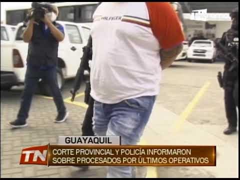 Corte provincial y policía informaron sobre procesados por últimos operativos