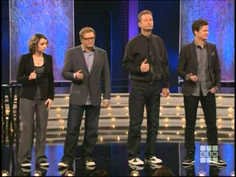 question - Chip Esten, Ryan Stiles, Jonathan Mangum, Drew Carey, and Heather Ann Campbell playing