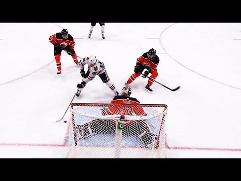 Video: Patrick Kane dances around Oilers to score OT winner
