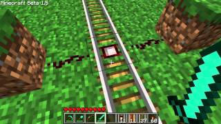Minecraft Tutorial - Powered & Detector Rails