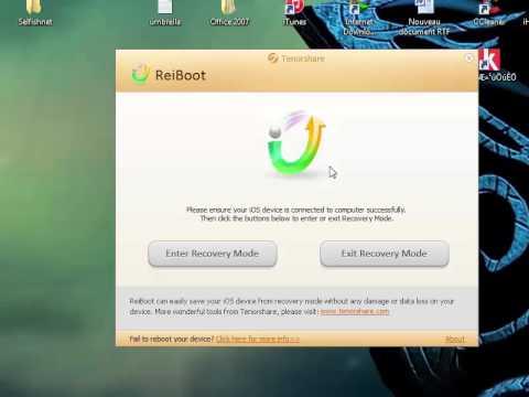 تحميل برنامج ReiBoot لحل مشكلة الريكفري مود recovery mode:  لتنزيل البرنامج  ReiBoot نسخة Windows و Mac: http://www.share-b.com/2015/03/reiboot-recovery-mode-ios.htmlتنويه: اذا كان جهازك في وضعية USB وشعار iTunes اختر الخروج من وضعية Recovery Mode والعكس اذا احببت الدخول لهذه الوضعية.الطريقة والبرنامج في الاعلى لا يمكنه اخراج جهازك من وضعية DFU Mode او اذا كانت شاشة جهاز iPhone/iPad/iPod سوداء الطريقة هي بالضغط على زر Home + Power في آن واحد لمدة 10 ثواني، بعدها قم بإزالة يديك من كل الزرين وقم بتشغيل جهازك بشكل طبيعي، لا انسى ان انوه ان هنالك حالات يستصعب على البرنامج اداء عمله لاحتمال انهيار نظام iOS فبالتالي الحل هو عمل ريستور.حل مشكلة Download Mode و Recovery Mode في أجهزة Samsungحل مشكلة شاشة الموت في اجهزة الجالكسيمشكلة [Galaxy S2] ما اقدر ادخل recovery mode حل مشكلة الريكفري مود للايفون 4حل مشكلة الريكفري مود للايباد 2
