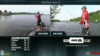 KVD fishing live on Championship Sunday Toledo Bend 2016 - part 1