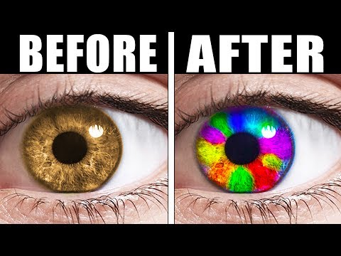 TRICK TO CHANGE YOUR EYE COLOR (IT ACTUALLY WORKS) (видео)