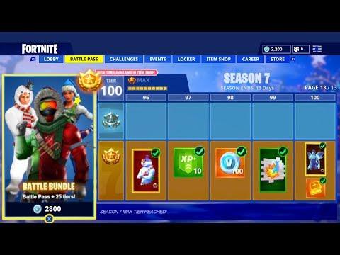 All Fortnite Season 7 Battle Pass Skins Rewards New Fortnite Season