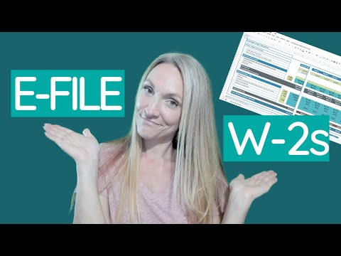 How Does an Employer File Form W2 Online {& free payroll spreadsheet template!}