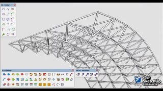 Video Space truss modeling | SketchUp | MP3, 3GP, MP4, WEBM, AVI, FLV Desember 2017