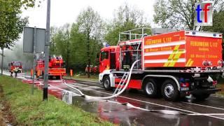 Backnang Germany  city photos : Fire in a Printing House / Brand Druckerei, Mühlgrund Backnang, Germany, 16.08.2015.
