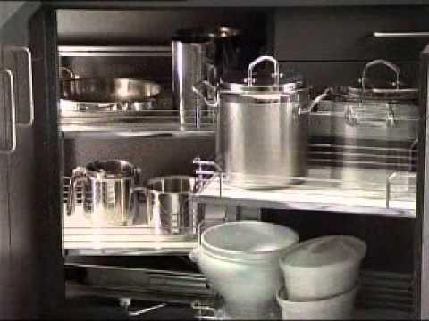 hafele magic corner i steel champagne left hand 40 47. Black Bedroom Furniture Sets. Home Design Ideas