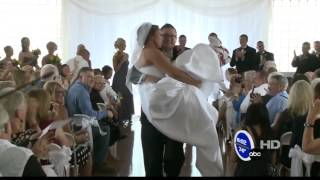 Video screenshot of Stevie Beale Wedding ABC News