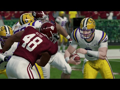 College Football 11/9/2019 - LSU vs Alabama - NCAA Football 14 (Updated 2019 Rosters)