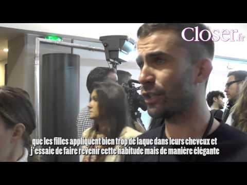 Backstage du défilé Kenzo PE 2014 avec Anthony Turner, coiffeur studio L'Oréal Professionnel