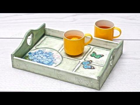 decoupage – vassoio per il thé
