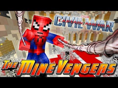 Minecraft Adventure - SPIDER-MAN SWINGS INTO ACTION!!!