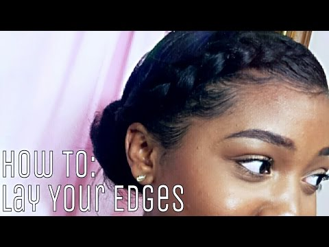 HOW TO LAY & SLAY YOUR EDGES! (видео)
