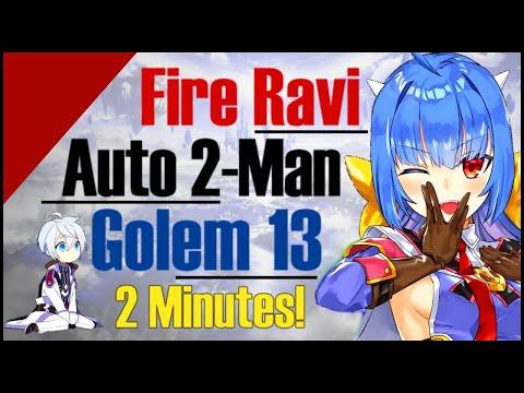 Epic 7: Ravi 2-Man Auto-Farm Golem 13iIn 2 Minutes!! Buffed Ravi!!