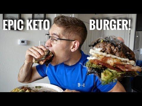 Low carb diet - EPIC LOW CARB - PORTOBELLO FAT BURGER!