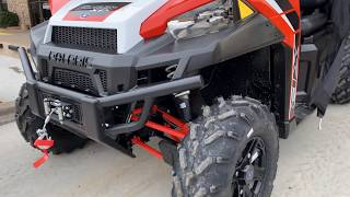 8. 2019 Polaris Ranger XP 900 EPS - Orange Madness with Probox