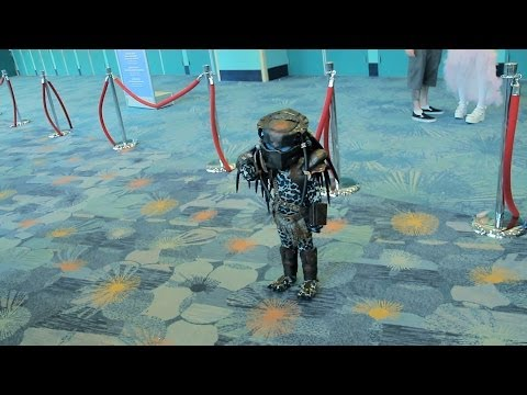 The Cutest Kid Dresses Up In a Mini Predator