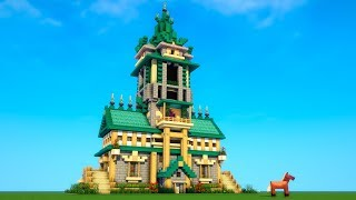 Minecraft - How to build a mansion tutorial - EPIC HOUSE! (#2)