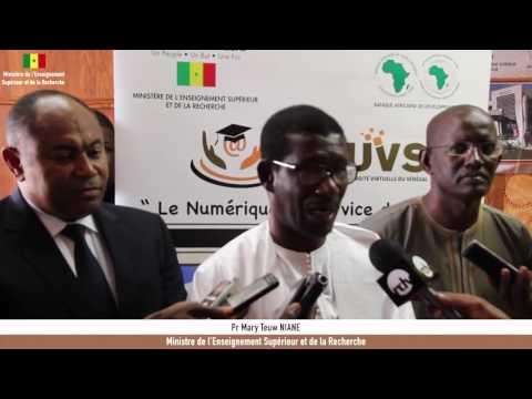 Etat d'avancement du Projet d'Appui à l'Université Virtuelle du Sénégal