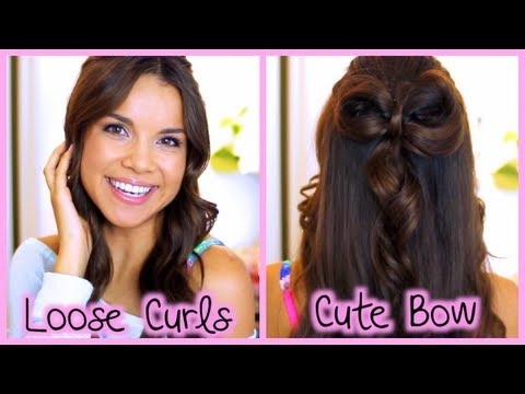 Quick and Easy Loose Curls + Cute Hair Bow!