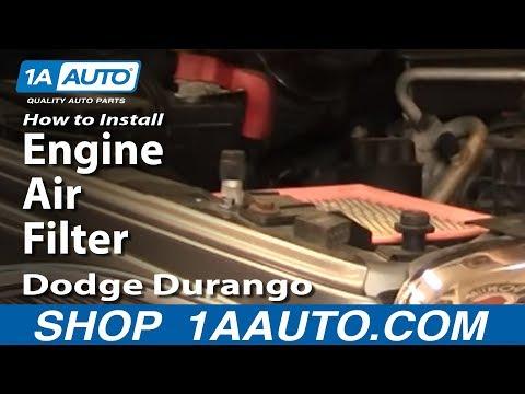 How To Install Replace Engine Air Filter Dodge Durango 04-09 1AAuto.com