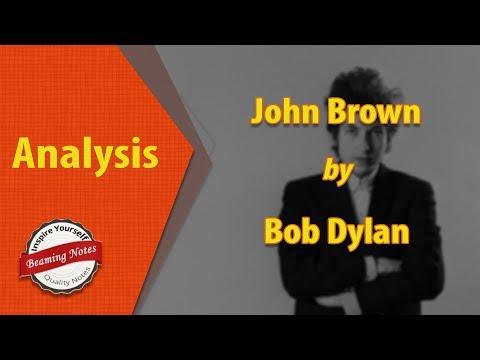 John Brown Analysis by Bob Dylan