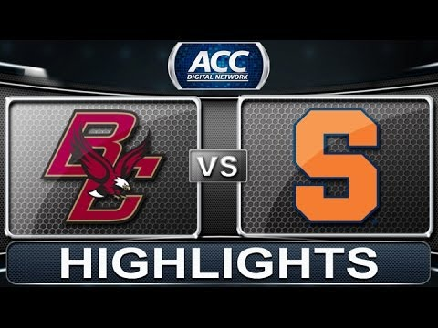 Boston College vs Syracuse | 2014 ACC Basketball Highlights