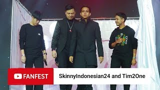 Video SkinnyIndonesian24 & Tim2one @ YouTube FanFest Jakarta 2018 MP3, 3GP, MP4, WEBM, AVI, FLV Oktober 2018