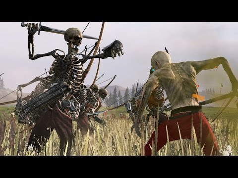 10000 SKELETON ARCHERS VS 10000 ZOMBIES - MASSIVE BATTLE TOTAL WAR WARHAMMER