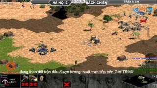 Bảng A - Giải random 4vs4 Hà Nội 2 vs Bách Chiến Trận 1, game đế chế, clip aoe, chim sẻ đi nắng, aoe 2015
