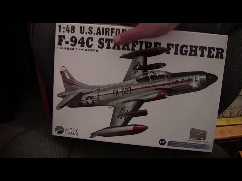 Maquette KITTY HAWK - F-94C Lockheed STARFIRE FIGHTER (USAF 1950-1959) - 1/48