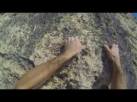 Kletterfelsen an der Cala Fighera