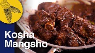 Mutton Kosha Bengali Recipe   Kasha Mangsho   Bengali Slow Cooked Mutton Curry   Kali Pujo Special