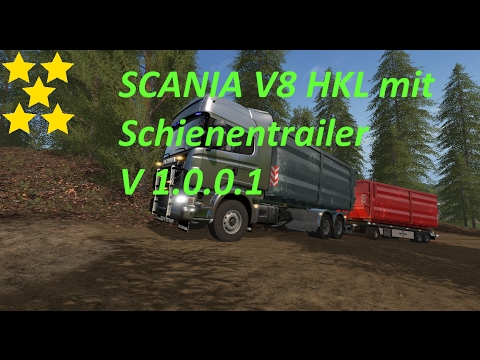 SCANIA V8 HKL with rail Trailer v1.0.1.0