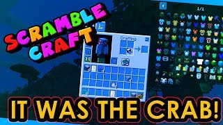 CANNIBAL CRAB DONE THIS TO ME!? - Scramble Craft (Minecraft)