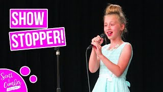 """Video 9 YEAR OLD STUNS CROWD WITH """"NEVER ENOUGH"""" AT SCHOOL TALENT SHOW...BEAUTIFUL!! MP3, 3GP, MP4, WEBM, AVI, FLV Juli 2018"""