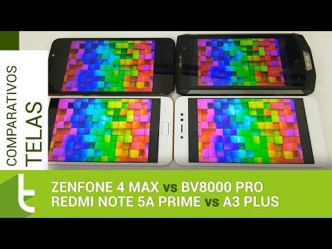 Tudocelular - Zenfone 4 Max e Redmi Note 5A Prime derrotam A3 Plus e BV8000 Pro em comparativo de telas