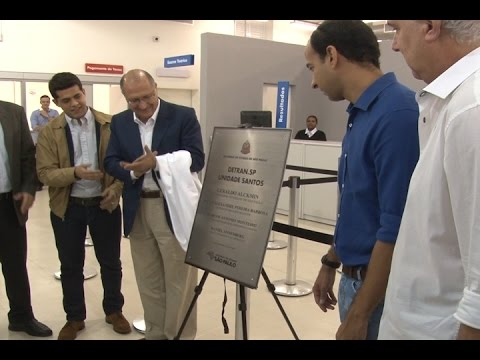 Governador Geraldo Alckmin entrega novo Detran de Santos