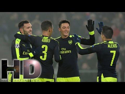 Basel 1 - 4 Arsenal ALL Goals & Highlights -  UCL  2016-17